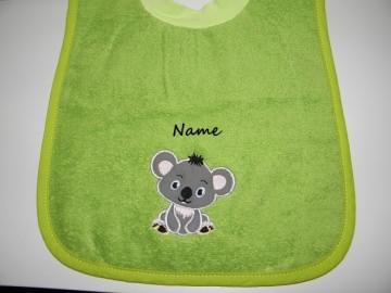 Babylatz, Lätzchen, Riesen-Schlupflätzchen mit Koala und Name, personalisierbar, Dieda - Handarbeit kaufen