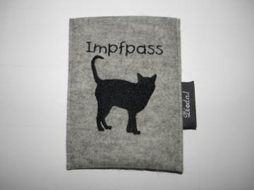 handgemacht, Impfpasshülle für Katzenimpfpass, zum Einstecken, personalisierbar, von dieda kaufen