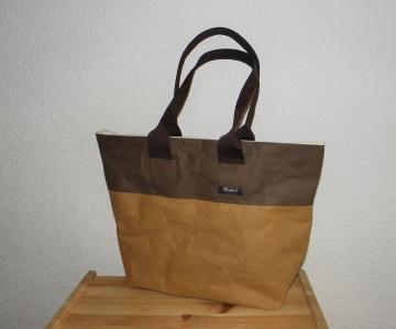 Stabiler Shopper aus waschbarem Papier, groß, leicht, Einkaufstasche - Handarbeit kaufen