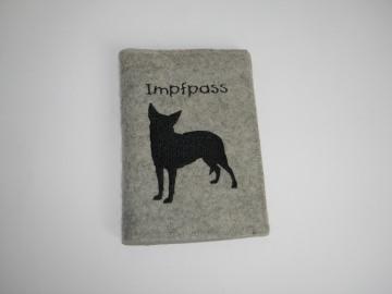 Impfpasshülle handgemacht für Hunde aufklappbar mit Fach für Visitenkarten, personalisierbar, Dieda - Handarbeit kaufen