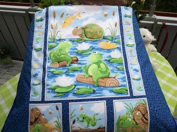liebevoll gearbeiteter Sitzsack XL  Frösche und Schildkröten für Jungen und Mädchen