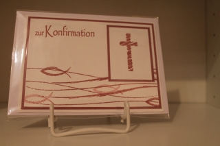 Konfirmationskarte für ein Mädchen