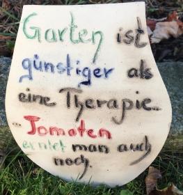 lustige bunte Gartenschilder aus Keramik für Haus und Garten - Handarbeit kaufen