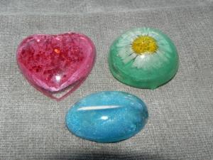 3 Magnete für Kühlschrank oder Pinnwand,  Mängelexemplare aus UV Resin
