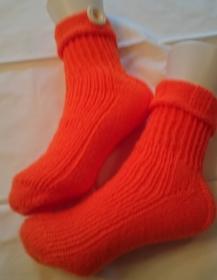 Neon-orange Socken,Gr. 39 Die flippigste Farbe in diesem Jahr