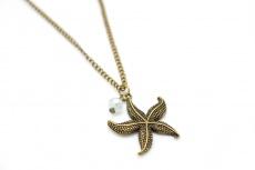 Bronzene Seestern Halskette