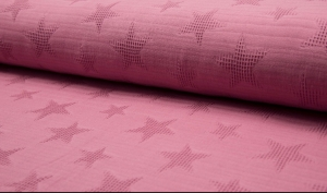 Baumwolljacquard mit Waffelpique-Sternen