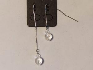 Ohrringe Durchzieher/-Fädler mit Bergkristall - Handarbeit kaufen