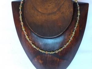 Zierliche Halskette Citrin Peridot - Handarbeit kaufen