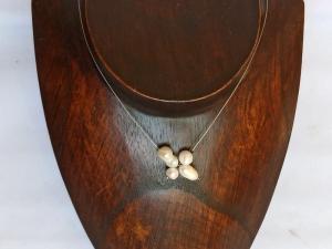Halskette mit Zuchtperlen weiß - Handarbeit kaufen