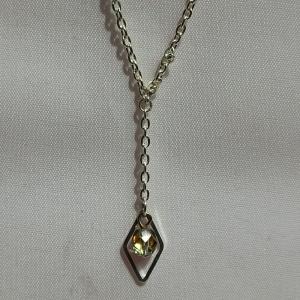Halskette mit Pendel böhmische Glasperle