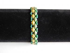 Armband grün silber