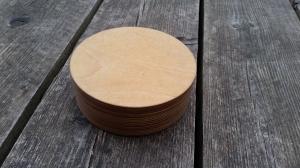 Dose mit Deckel aus edlem Schichtholz BIRKE , passgenaue Qualitätsarbeit