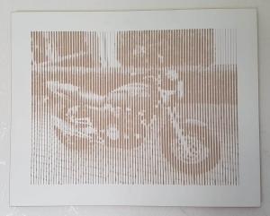 interessante Bilder durch Lichtreflexgravur in MDF .... besonders künstleriche Darstellung in MDF grau durchgefärbt
