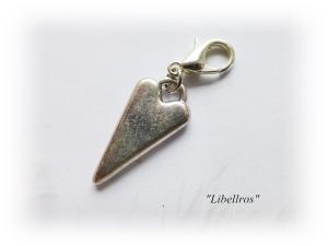 1 silberfarbener Charm mit einem Herz ♡ Wechselanhänger ♡ Schmuckanhänger