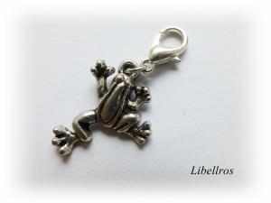 1 silberfarbener Charm mit einem Frosch ♡ Wechselanhänger ♡ Schmuckanhänger