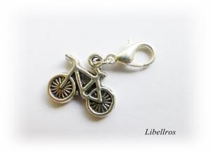1 silberfarbener Charm mit einem Fahrrad ♡ Wechselanhänger ♡ Schmuckanhänger