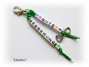 Taschenbaumler, Schlüsselanhänger mit Schriftzug ♥ Gute Besserung ♥