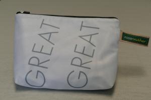 Universaltäschchen mit Innentaschen - Upcycling aus Werbebanner