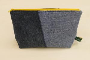 Universaltäschchen - Upcycling Jeanshosenteile / Kissenbezug
