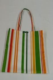 Einkaufstasche - Upcycling aus Duschvorhang