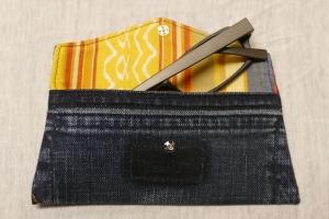 Universaltäschchen - Upcycling Gesäßtasche Jeanshose + Kissenbezug