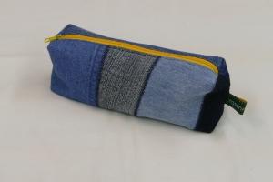 Mäppchen - Upcycling aus Jeanshosenteilen / Cordhose