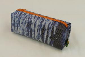 Mäppchen - Upcycling aus Werbebanner, blau / orange