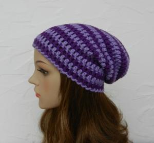 Lucy ♥ Beanie, Wintermütze in lavendel, violett - Schurwolle Mix - Handarbeit kaufen