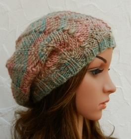Hannah ♥ Beanie, Wintermütze in buntem Farbverlaufsgarn - Schurwolle Mix - Handarbeit kaufen