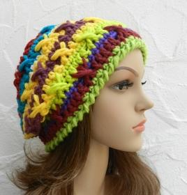 Mel ♥ Beanie, Wintermütze in bunten Farben - Schurwolle Mix - Handarbeit kaufen