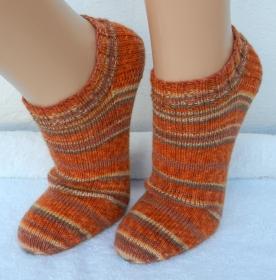 Sneakers Gr. 38-39 in orange und braun - mustergleich