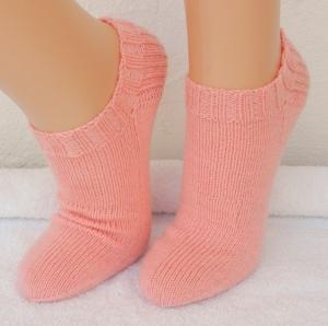Sneakers, Füßlinge Gr. 38 in rosa - Handarbeit kaufen