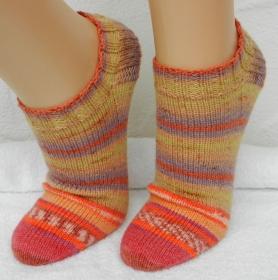 Sneakers, Füßlinge Gr. 38 - mustergleich - ♡ kunterbunt ♡ - Handarbeit kaufen