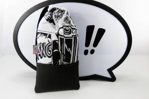 Handytasche Brillenetui ♥ KAWUMM ♥ im Comic-Stil schwarz-weiß Krimi - Handarbeit kaufen