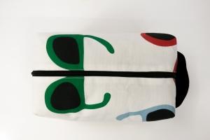 Kulturtasche ♥ Sunglasses ♥ für Sie und Ihn mit curryfarbenem Kunstleder