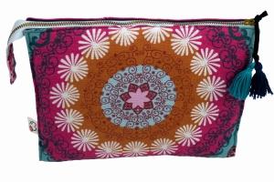 Kosmetiktasche ♥MANDALA♥ in pink mit 3 Fächern ♡ Taschenorganizer für Kosmetik und mehr - Handarbeit kaufen