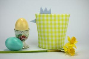 Eierwärmer KÜKEN ♡ grün-weiß-karierte Baumwolle ♡ auch eine tolle Dekoration ♡ nicht nur für Ostern - Handarbeit kaufen