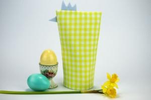 Eierwärmer HAHN ♡ grün-weiß-karierte Baumwolle ♡ auch eine tolle Dekoration ♡ nicht nur für Ostern - Handarbeit kaufen
