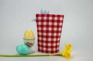 Eierwärmer HENNE ♡ rot-weiß-karierte Baumwolle ♡ auch eine tolle Dekoration ♡ nicht nur für Ostern