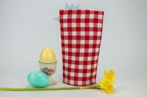 Eierwärmer HAHN ♡ rot-weiß-karierte Baumwolle ♡ auch eine tolle Dekoration ♡ nicht nur für Ostern - Handarbeit kaufen
