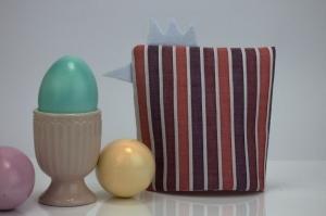 Eierwärmer KÜKEN ♡ gestreifte Baumwolle in Pastelltönen ♡ auch eine tolle Dekoration ♡ nicht nur für Ostern - Handarbeit kaufen