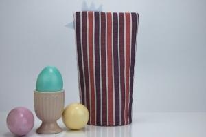 Eierwärmer HAHN ♡ gestreifte Baumwolle in Pastelltönen ♡ auch eine tolle Dekoration ♡ nicht nur für Ostern - Handarbeit kaufen