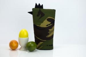 Eierwärmer GENERAL ★ Schwarz ★ Camouflage Flecktarn ♡ auch eine tolle Dekoration ♡ nicht nur für Ostern - Handarbeit kaufen