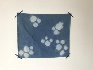 Geschirrtücher aus Baumwolle handgefärbt in natürlichem Indigoblau im Shiboristyle, Versandkostenfrei! (Kopie id: 100186152)