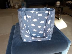 Sommertasche mit Wolkenmotiv  - Handarbeit kaufen