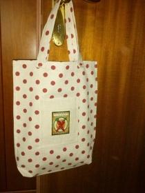 Shopper mit Außentasche / Motiv Karotten - Handarbeit kaufen