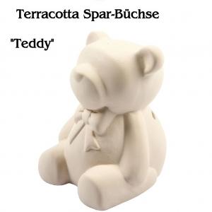 Spardose Sparbüchse aus weißem Terracotta  - Handarbeit kaufen