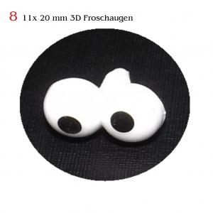 Teddy-Augen Sicherheitsaugen Plüschtieraugen Comic-Augen Kuscheltier Froschaugen 3D - Handarbeit kaufen