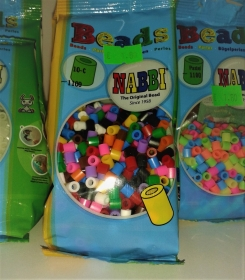 Bügelperlen kleine Tüte –1.100 St. bunte Bügelperlen - 5mm, auch Walzenperlen - Handarbeit kaufen